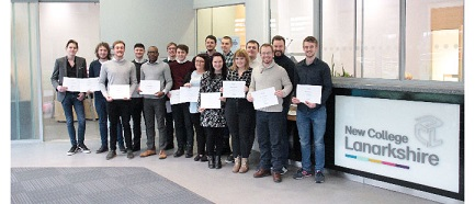 New College Lanarkshire's work experience placements for their HND Computer Aided Architectural Design and Technology (CAAD&T) students