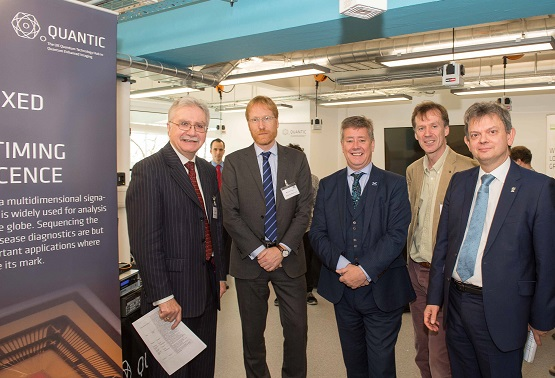 SFC's Director of Research and Innovation and Keith Brown MSP, Cabinet Secretary for Economy, Jobs and Fair Work at the opening of the QuantIC innovation space.