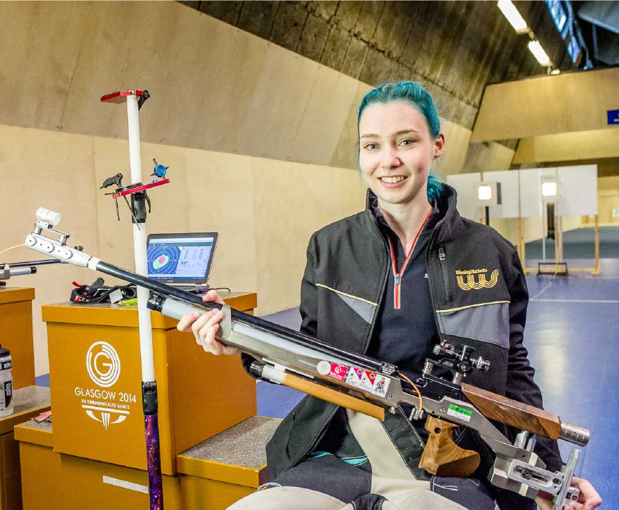 Heriot-Watt University Electrical Engineering student Seonaid McIntosh, 21, has met the event qualifying standard for shooting.
