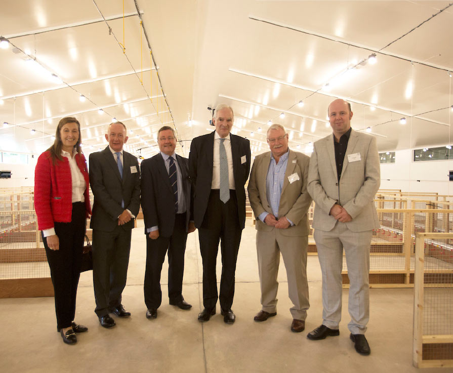 SFC Chair Mike Cantlay (second from left) at the opening of the Allermuir Avian Innovation and Skills Centre. Photo: Chris Watt Photography.