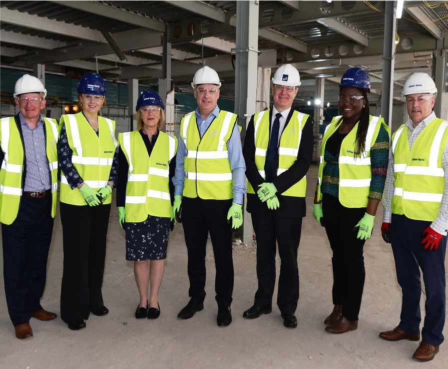 Higher Education Minister Richard Lochhead (middle) made the announcement today during a visit to the University of Strathclyde to see progress on its new Learning & Teaching Building.