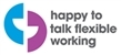 Happy to Talk Flexible Working logo