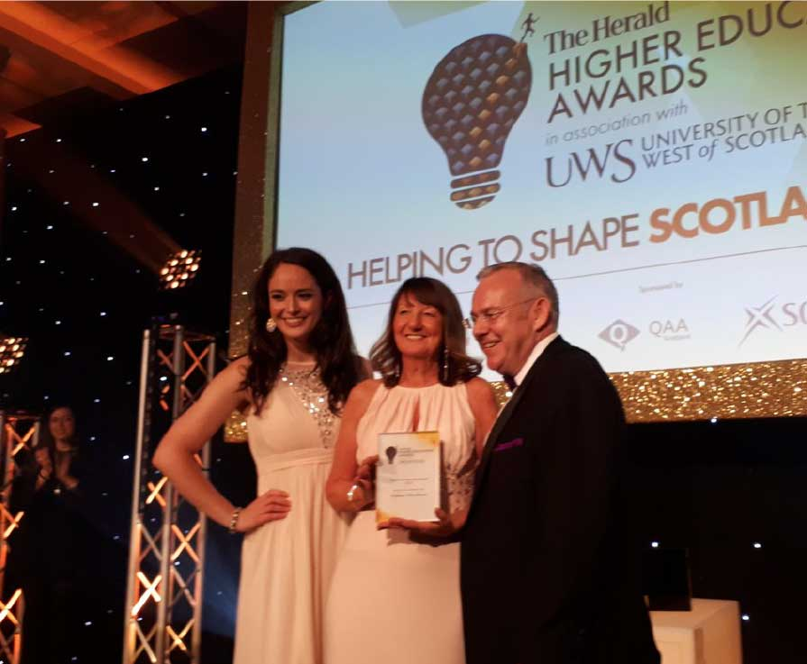 SFC Chair, Professor Alice Brown, was given a Lifetime Achievement Award at last night's Herald Awards Ceremony in Glasgow.