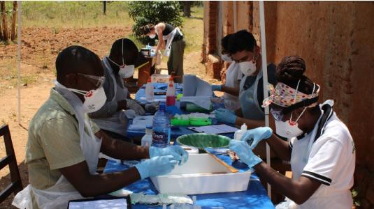 The research team in Uganda