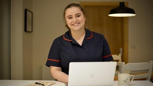 Emily Rodger, a School Nurse in Aberdeen.