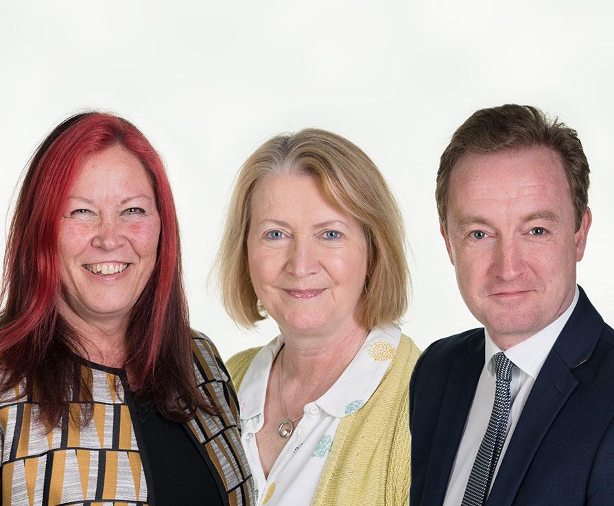 Photo of Lesley Yellowlees, Mhairi Harrington and David Alexander