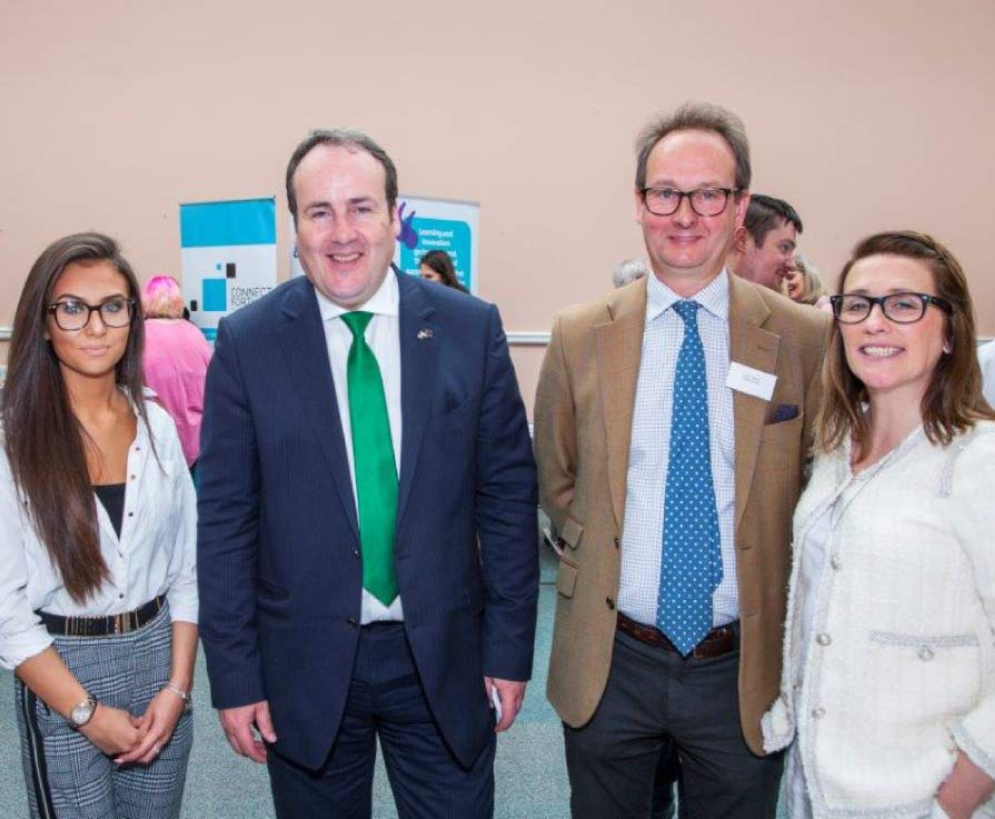 Paul Wheelhouse Minister for Business, Innovation and Energy with students from West College Scotland